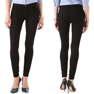 J Brand 915 Super Skinny Legging in Black Pitch